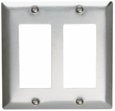 2-Opening Stainless Wall Plate