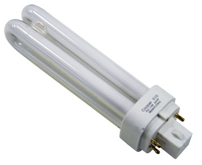 Compact Fluorescent Light Bulb, White, 13-Watt