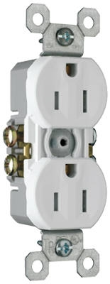 15A White Weather/Tamper Resistant Duplex Receptacle
