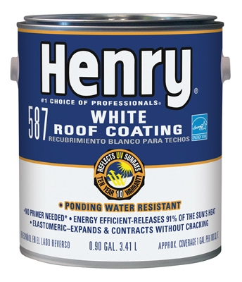 587 Elastomeric Roof Coating, White, 1-Gal.
