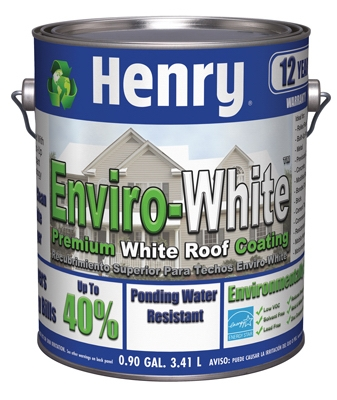 687 Elastomeric Roof Coating, Enviro White, 1-Gal.