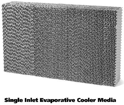 Evaporative Cooler Media, Single Inlet, 40 x 28 x 8-In. Thick