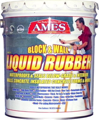 Block & Wall Liquid Rubber Coating, White, 5-Gals.