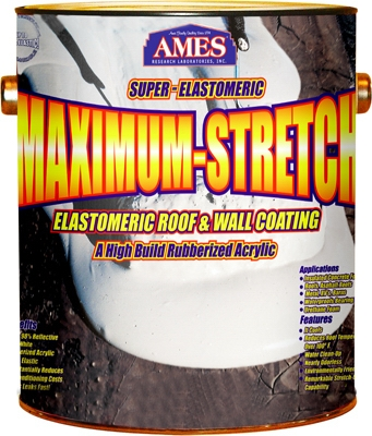 Maximum Stretch Elastomeric Roof Coating, White, 1-Gal.