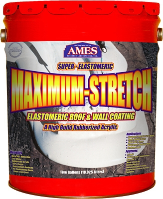 Maximum Stretch Elastomeric Roof & Wall Coating, 5-Gals.