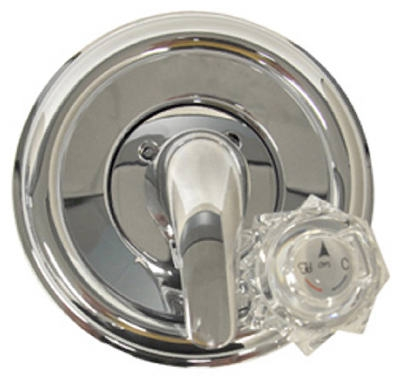Tub & Shower Trim Kit, For Delta Faucets, Chrome With Acrylic & Metal Handles