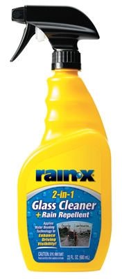 Glass Cleaner Plus Rain Repellant, 23-oz.