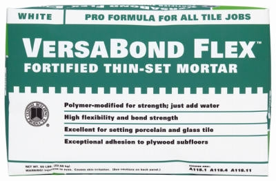 Versa Bond 25-Lb. White Flex Thin Set Mortar