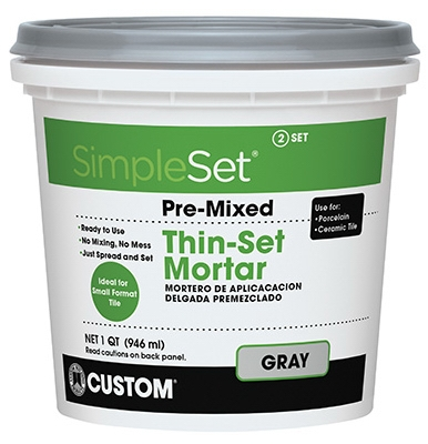 Pre-Mixed Gray Ceramic Tile Thin Set Mortar