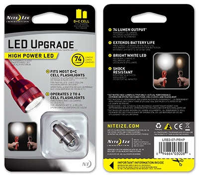 High Power LED Upgrade Bulb C/D Cell