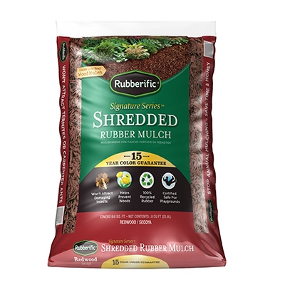 Rubberific Mulch, Redwood, .8-Cu. Ft.