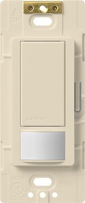 Maestro Sensor Switch, Large Room/Fan Occupancy, Light Almond