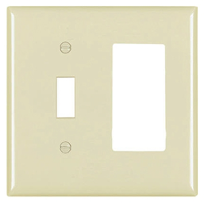 Ivory 1-Toggle & 1 Decorator Opening Urea Wall Plate