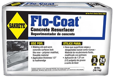Flo-Coat Concrete Resurfacer, 40-Lbs.