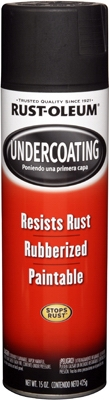 Rubberized Undercoating Spray, Black, 15-oz.