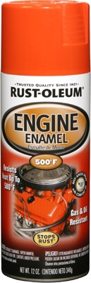 Engine Spray Enamel, Chevy Orange, 12-oz.