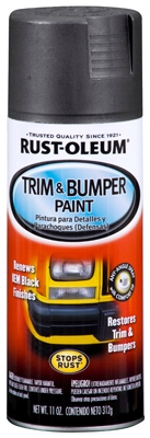 Trim & Bumper Paint, Matte Black, 11-oz.