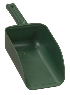 Poly Hand Scoop, Green, 1-Qt.