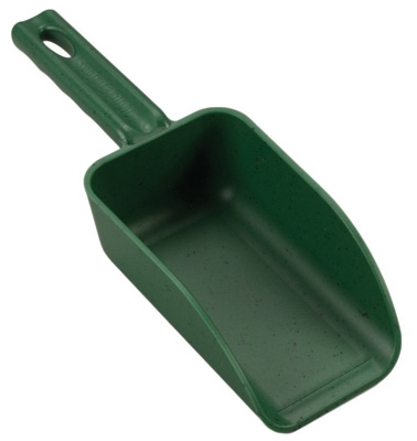 Poly Hand Scoop, Green, 2-Cup