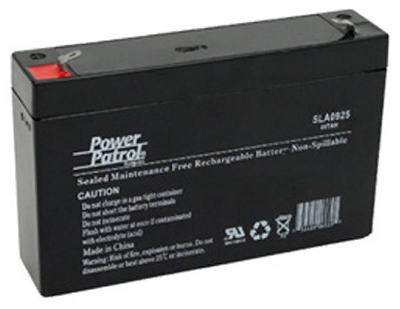Sealed Lead Acid Battery, 6-Volt, 7-Amp