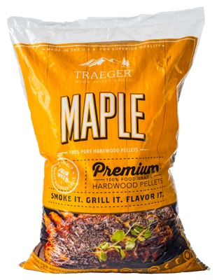 Barbeque Pellets, Maple Hardwood, 20-Lb. Bag