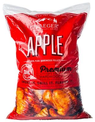 Barbeque Pellets, Apple Hardwood, 20-Lb. Bag