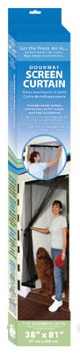 Easy-Handing Doorway Screen Curtain, 38 x 81-In.