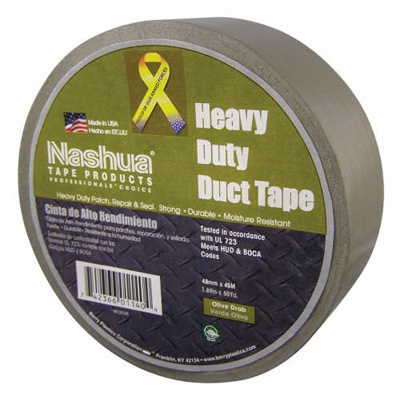 Duct Tape, Olive Drab, 1.89-In. x 50-Yd. Roll
