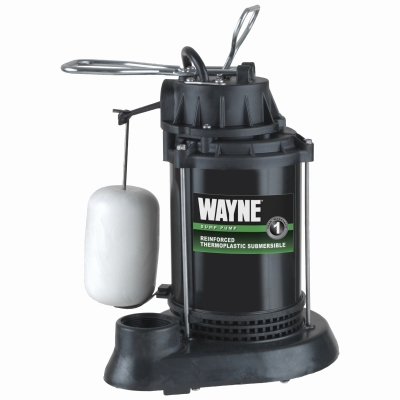 Submersible Sump Pump With Vertical Switch, Thermoplastic, .5-HP Motor
