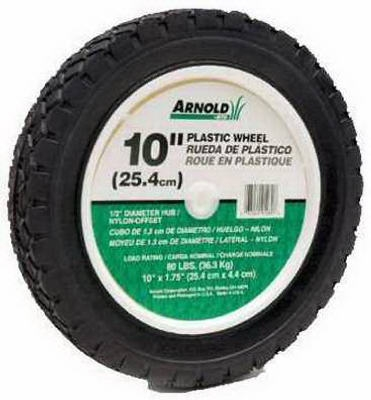10-Inch Offset Plastic Lawn Mower Wheel