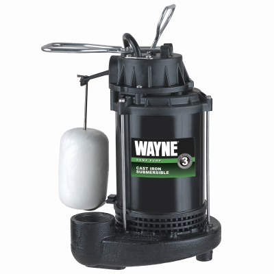Submersible Sump Pump With Vertical Switch, Cast Iron , .5-HP Motor