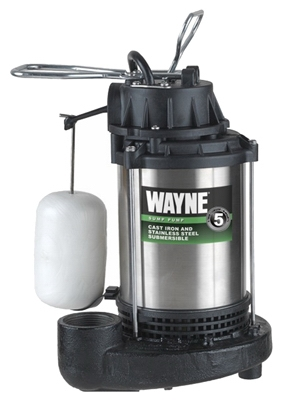 Submersible Sump Pump, Cast Iron/Stainless-Steel, .75-HP Motor