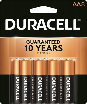 Alkaline Batteries, AA, 8-Pk.