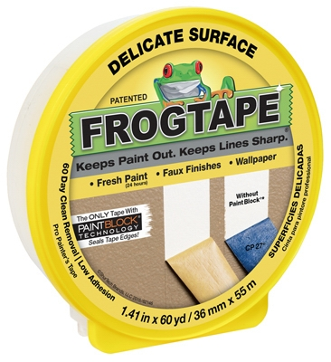 Delicate Surface Yellow Painting Tape, 1.41-In. x 60-Yds.