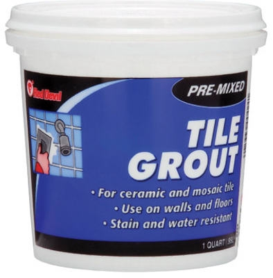 Pre-Mixed Tile Grout, Qt.