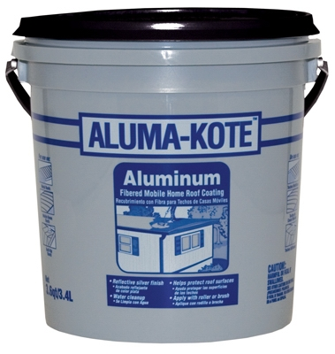 Aluminum Mobile Home Roof Coating, Fibered, 3.6-Qts.