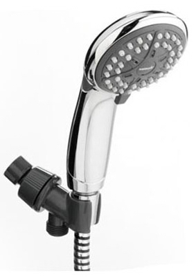 EcoFlow  Showerhead, Chrome, Handheld, 3 Settings, 1.5-GPM