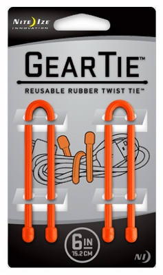 2-Pack 6-Inch Gear Tie, Orange