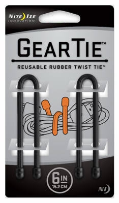 2-Pack 6-Inch Gear Tie, Black