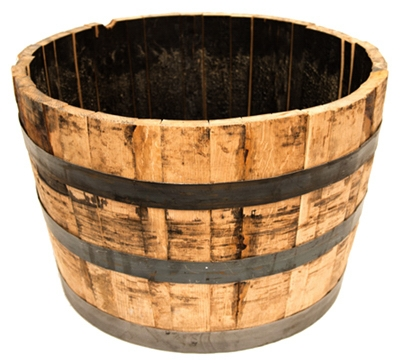 Half Barrel Planter, Oak