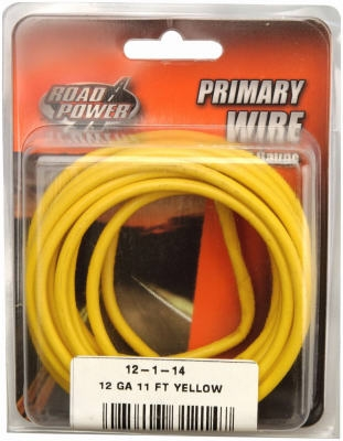 Primary Wire, Yellow, 12-Ga., 11-Ft.