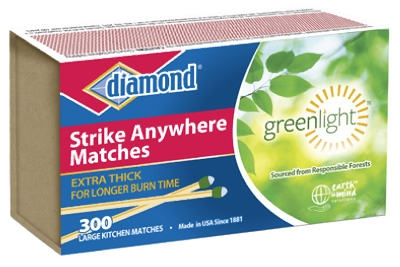 Strike Anywhere Greenlight Matches, 300-Ct.