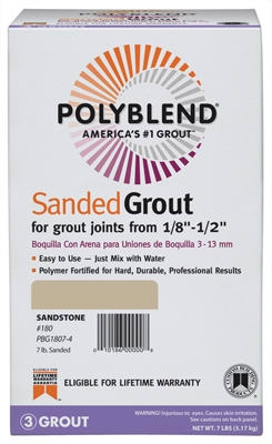 7-Lb. Natural Gray Sanded Polyblend Grout
