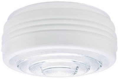 Drum Ceiling Shade, White/Clear, 8.75-In., Must Purchase in Quantities of 6