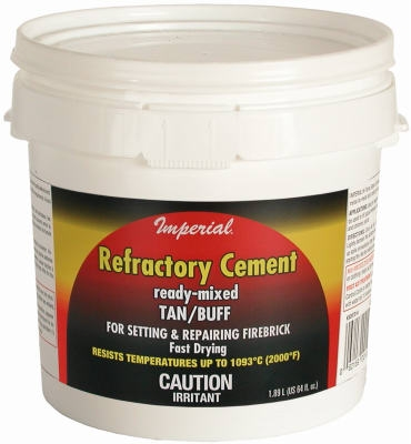 Sodium Silicate Firebrick Refractory Cement, 64-oz.