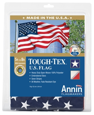 Tough Tex U.S. Flag, 2-Ply Polyester, 5 x 8-Ft.