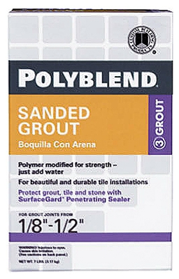 7-Lb. Pewter Sanded Polyblend Grout
