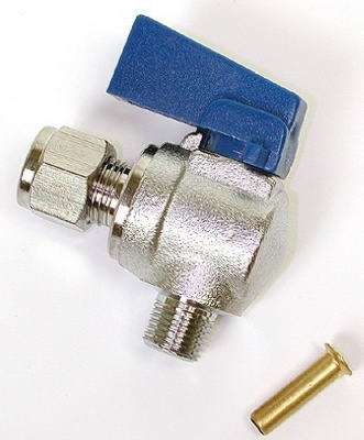 Evaporative Cooler Angle Ball Valve, 1/4 x 1/8-In.
