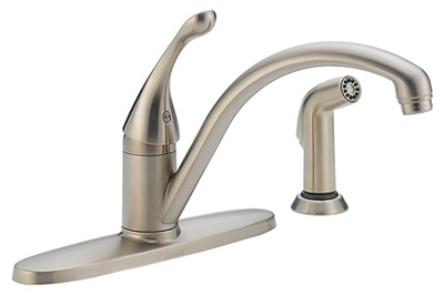 Signature Series Stainless Steel Single-Handle Kitchen Faucet
