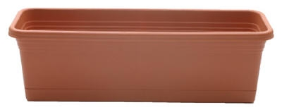 30-Inch Terra Cotta Windowbox Planter & Saucer